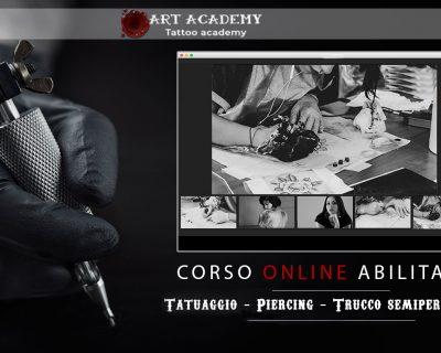 Corso On Line –  Tatuaggio, Piercing e Trucco Semipermanente  *